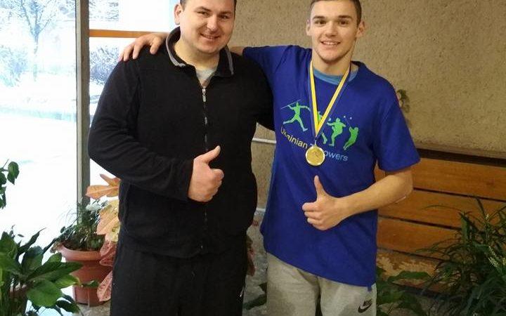 Петро Гуцул здобув 1 місце на  зимовому чемпіонаті України з легкоатлетичних метань!!🥇💪