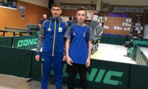 Чемпіонат області серед кадетів з тенісу настільного
