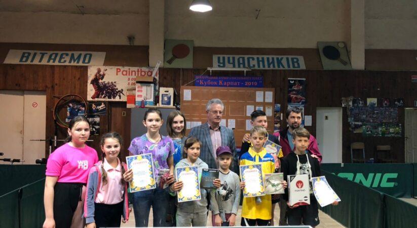 Відкрита першість Івано-Франківської області з тенісу настільного